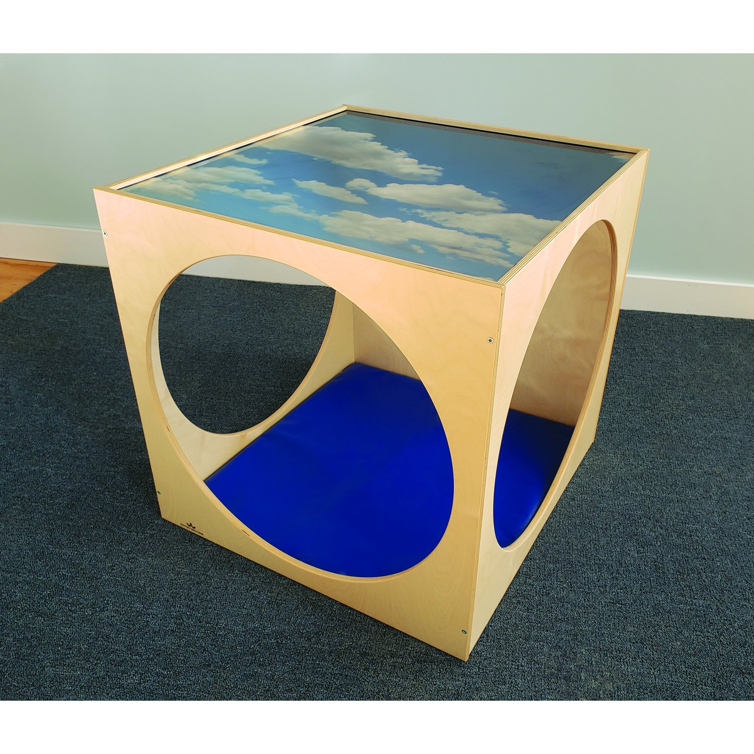 WB2122 Plexi Top Play House Cube With Floor Mat Set