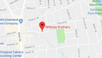 Map showing location of Whitney Brothers