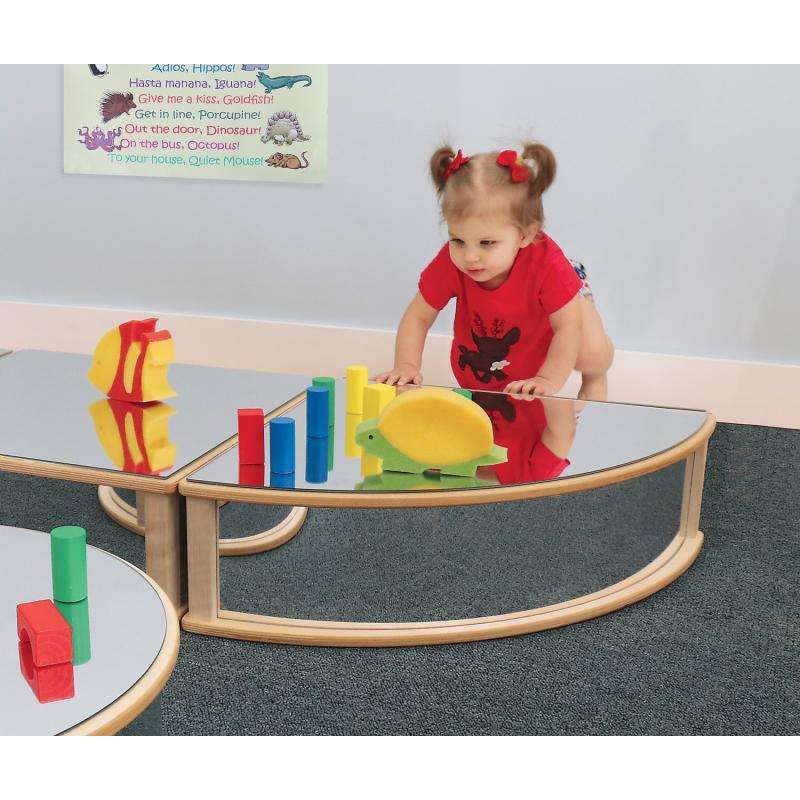 WB0169 - Quarter Round Infant Floor Mirror