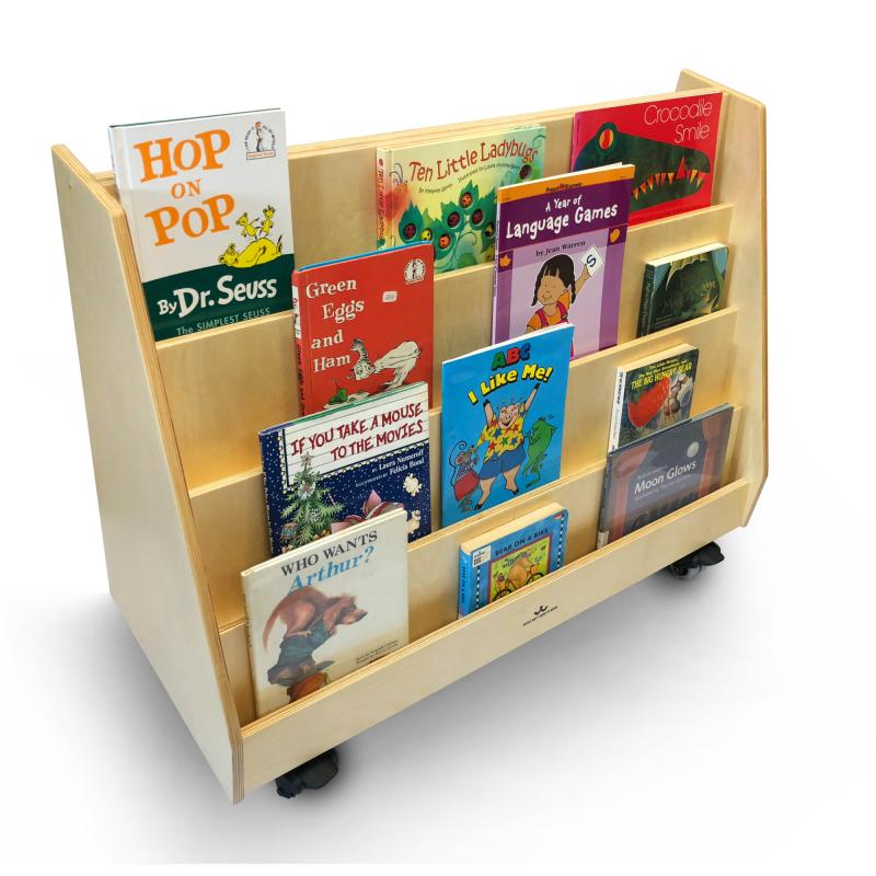 WB0136 - Deluxe 2 Sided Mobile Book Display Stand