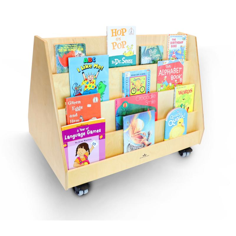 WB0139 - Two-Sided Mobile Book Display Stand