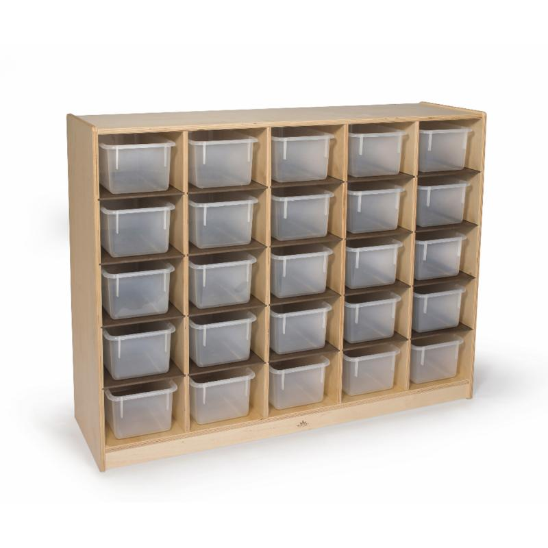 WB3225   Cubby Storage Cabinet With 25 Trays