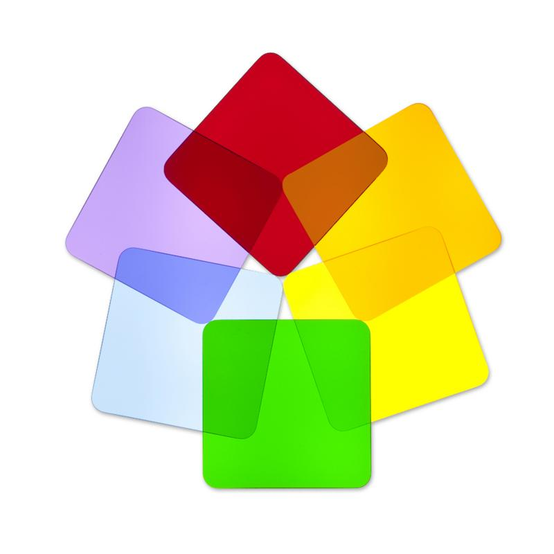 WB7724S - Color Wheel Squares - Set Of Six