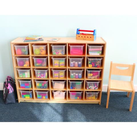 WB3225 - Cubby Storage Cabinet With 25 Trays