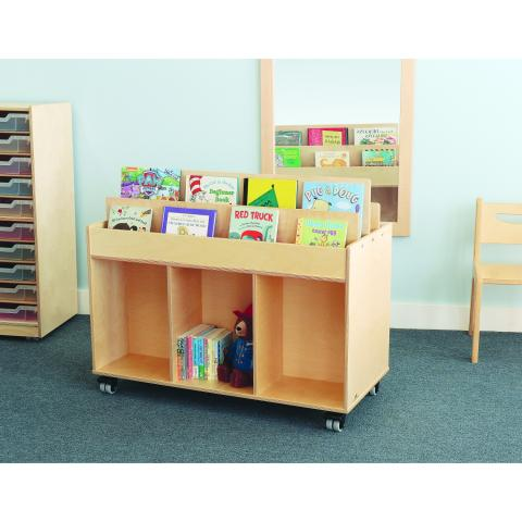 WB0383 - Mobile Book Storage Island