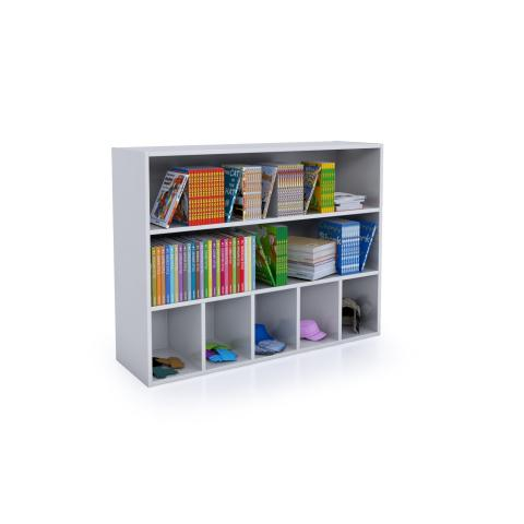 WB0660 - Whitney White Cubby And Shelf Cabinet