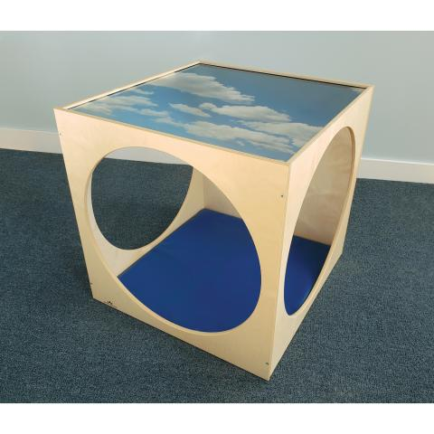 WB2122 Acrylic Top Play House Cube With Floor Mat Set