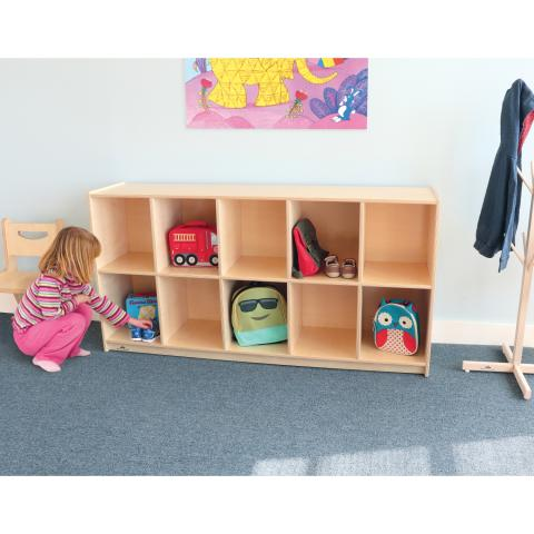 WB1672 - 10 Cubby Backpack Storage