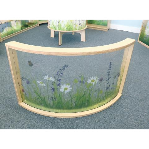 WB0517 Nature View Curved Divider Panel