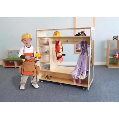 WB1734 - Mobile Dress Up Center w/Trays and Mirror