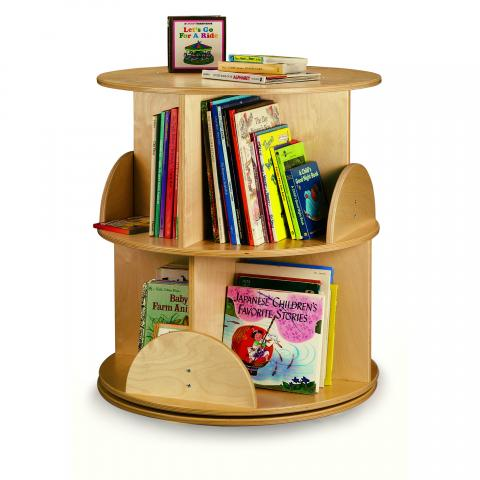 WB0502R - Two Level Book Carousel