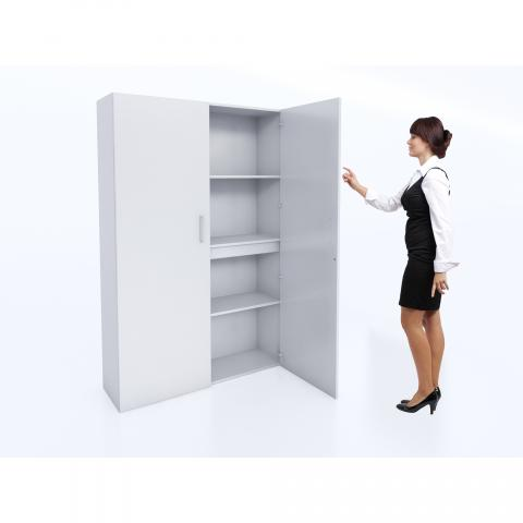 WB0665 - Whitney White Tall And Wide Wall Cabinet