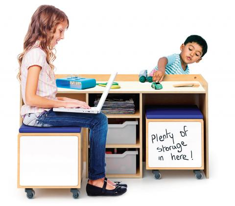WB1679 - STEM Activity Desk And Mobile Bin Set