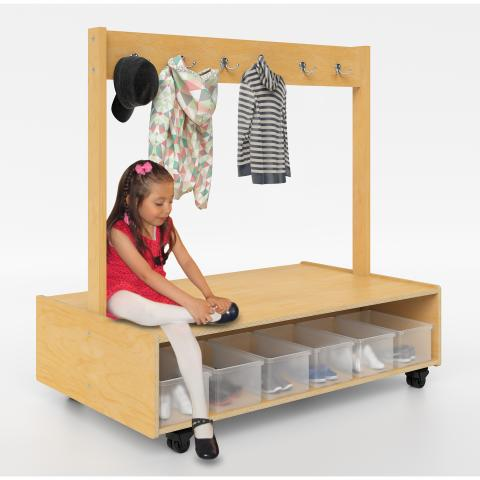 WB1733 - Mobile Island Coat Bench