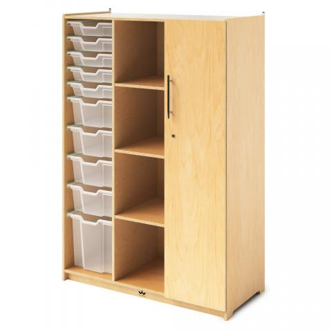 WB1810 - Teachers Wardrobe W/Trays & Locking Door