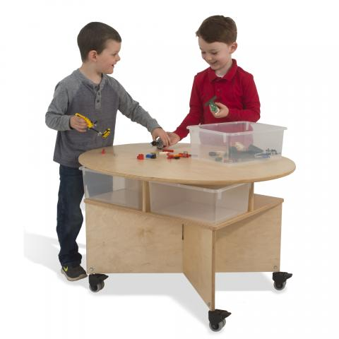 WB1816 - Mobile Collaboration Table With Trays