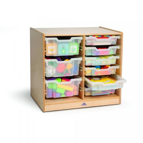 WB7002 - Clear Tray Double Storage Cabinet