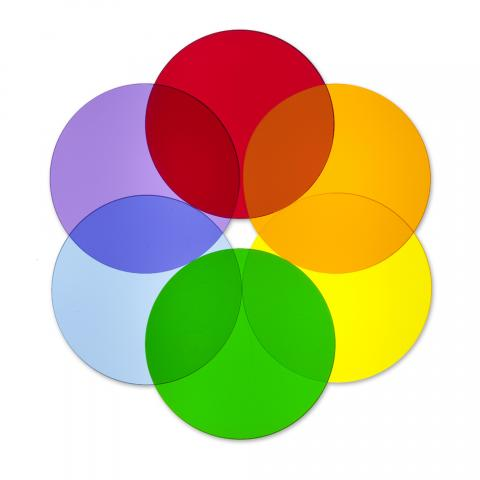 WB7724C - Color Wheel Circles - Set Of Six