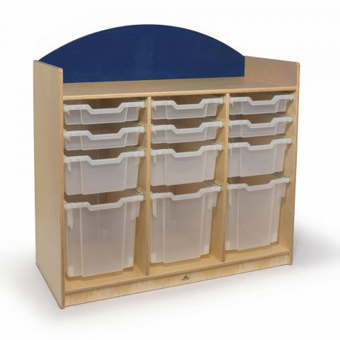WB8303S - Rainbow Tray Storage Cabinet- Blue