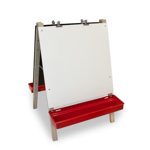 WB1863 Toddler Adjustable Easel with Write and Wipe Boards [front view]