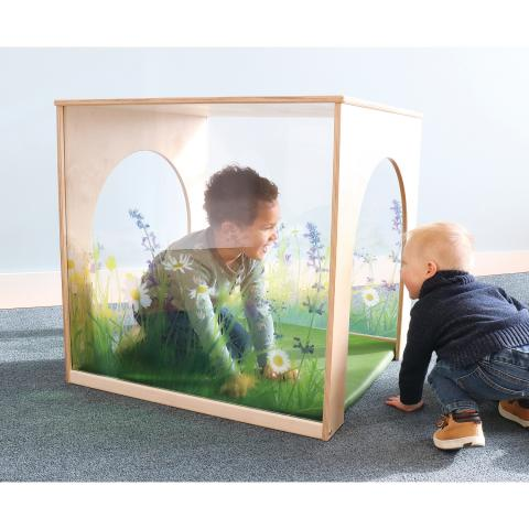 WB2452 Nature View Play House Cube With Floor Mat Set