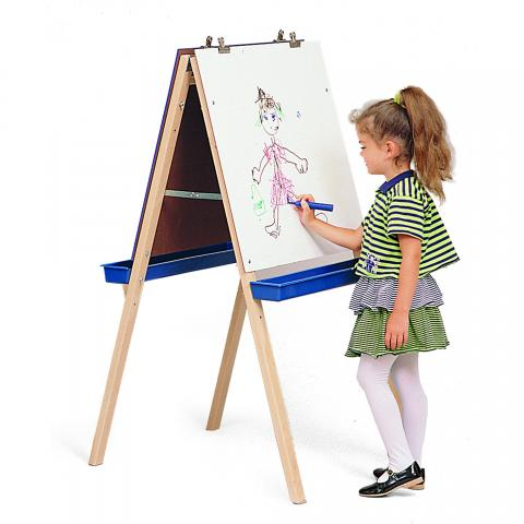 WB6800 - Adj. Easel With Write/Wipe Boards