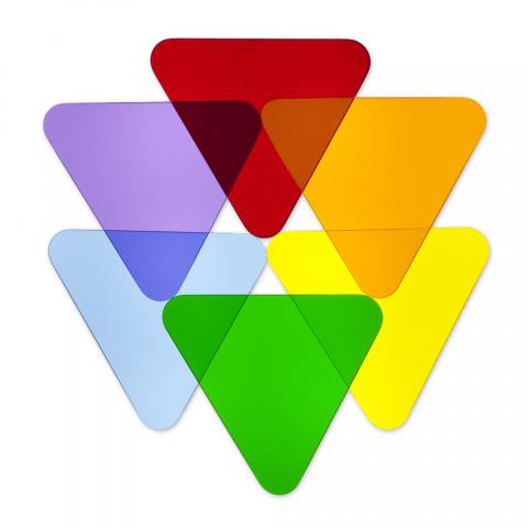 WB7724T - Color Wheel Triangles - Set Of 6
